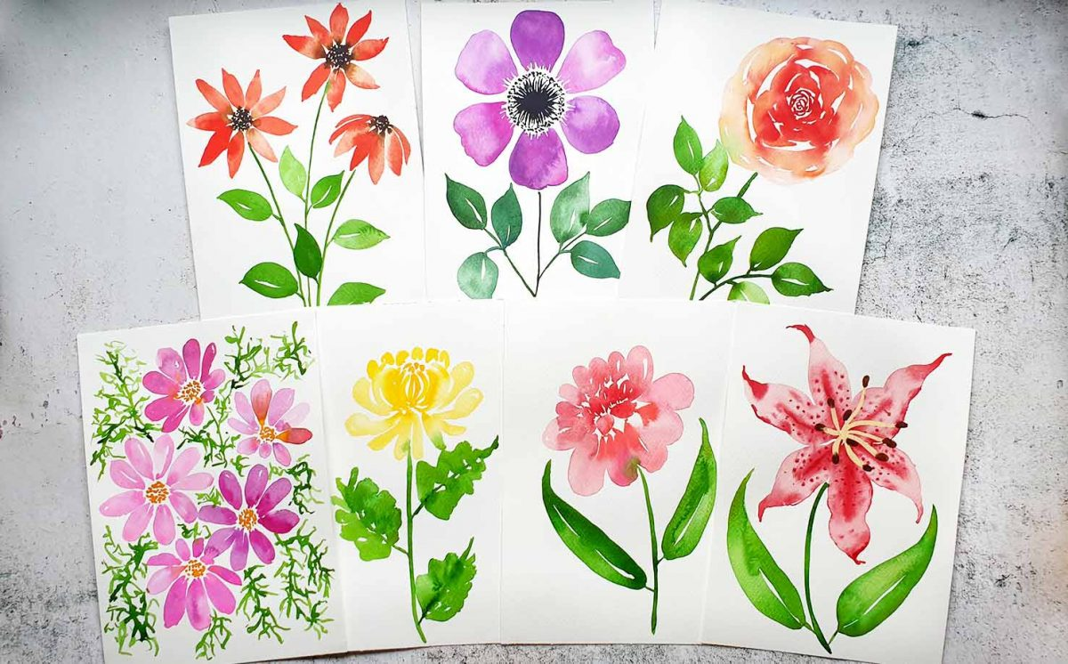 7 day loose floral challenge class emily wassell