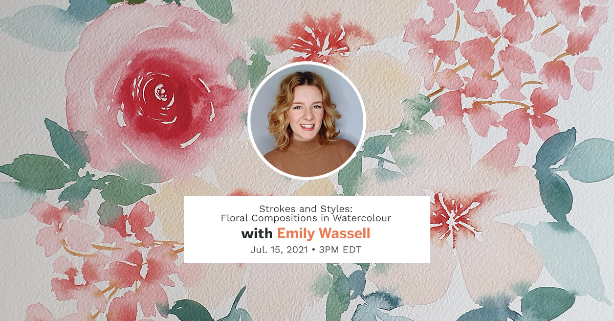 emily wassell etchr mini workshop loose floral watercolor