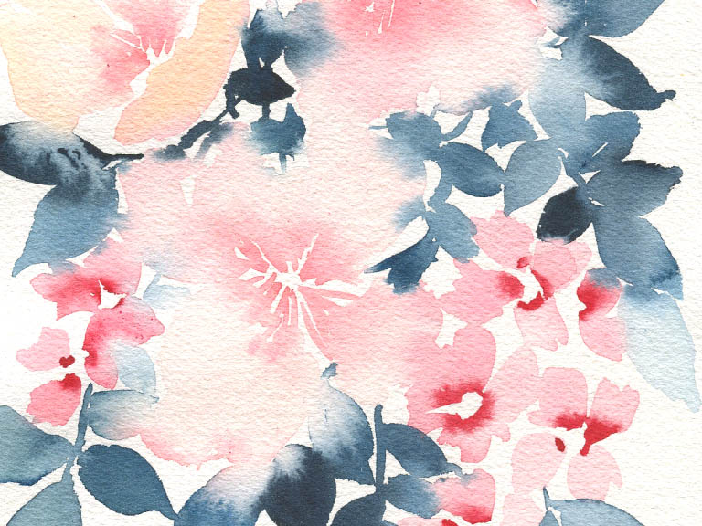 how to use contrast in watercolour
