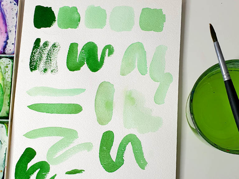 how much water to use in watercolour painting