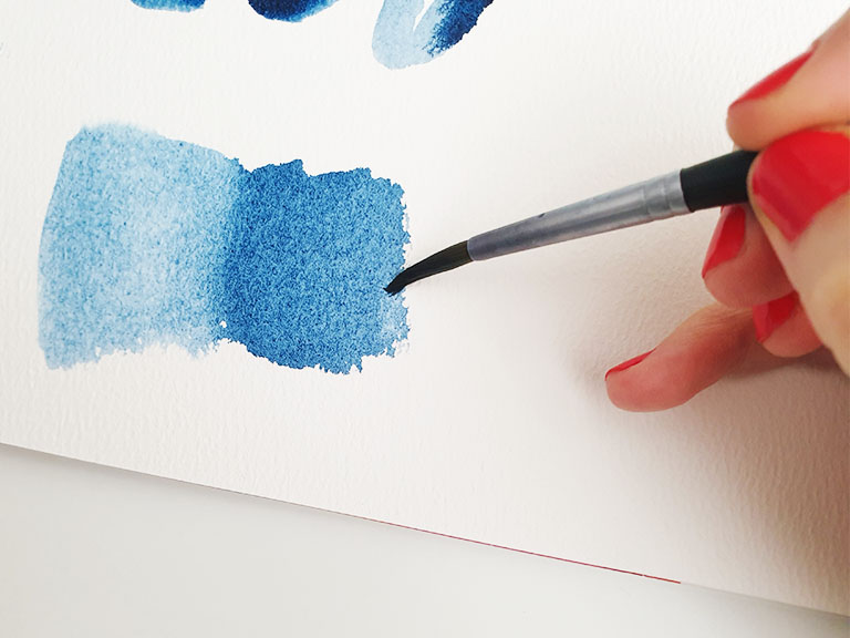 creating watercolor blends demonstration
