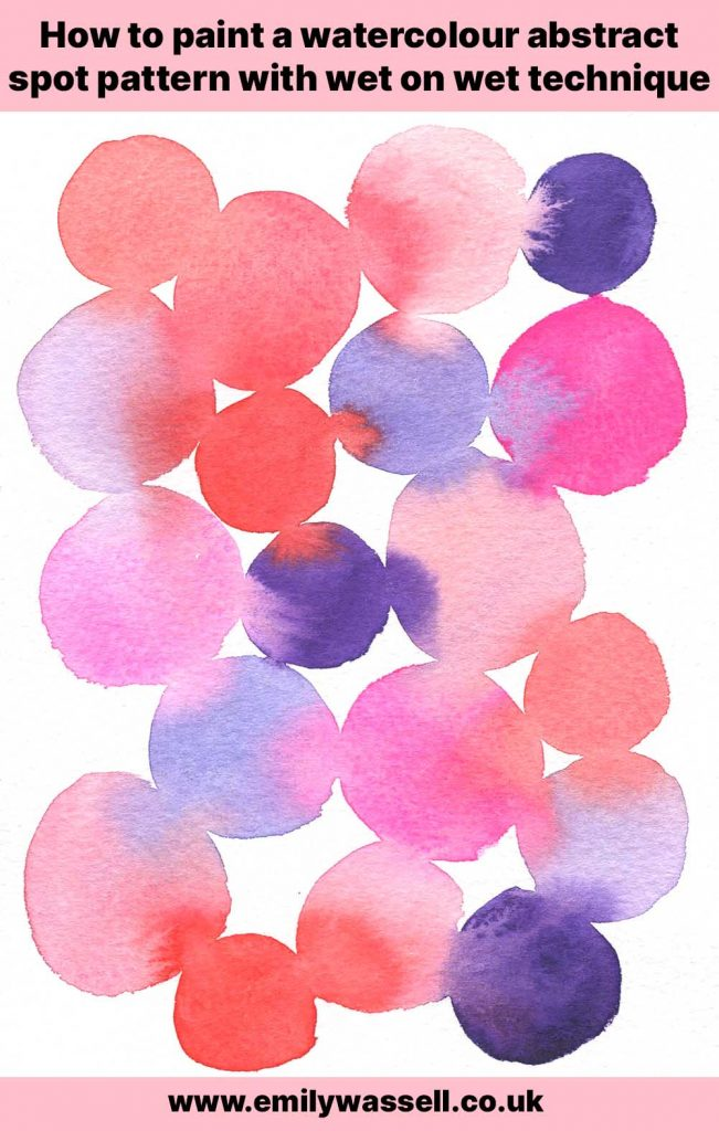how to paint a circle spot pattern in watercolor