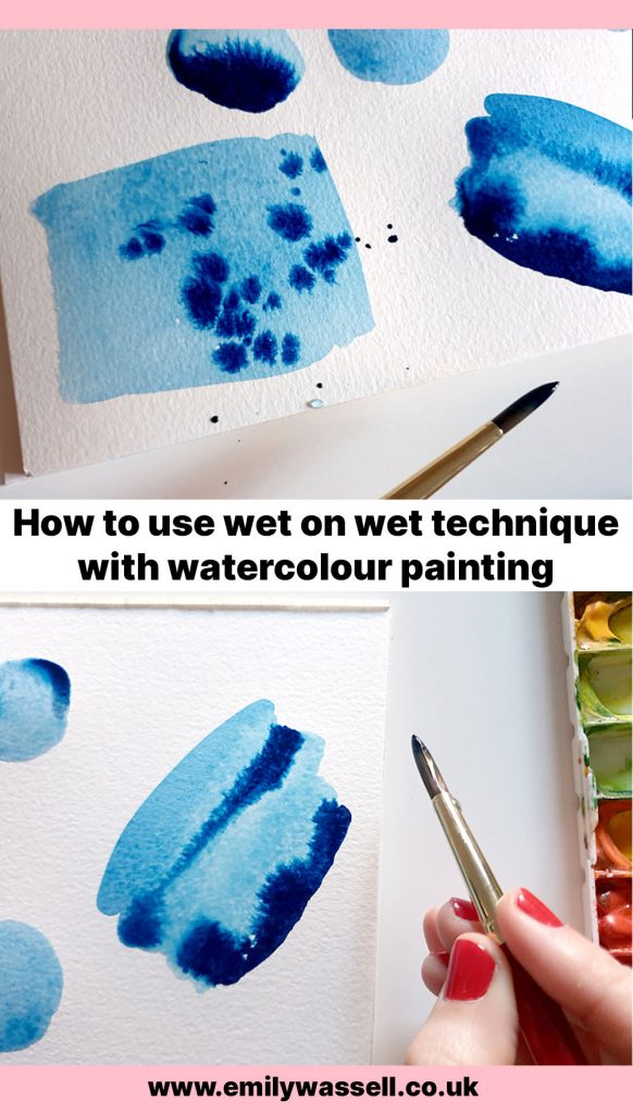 how to use wet on wet watercolor technique