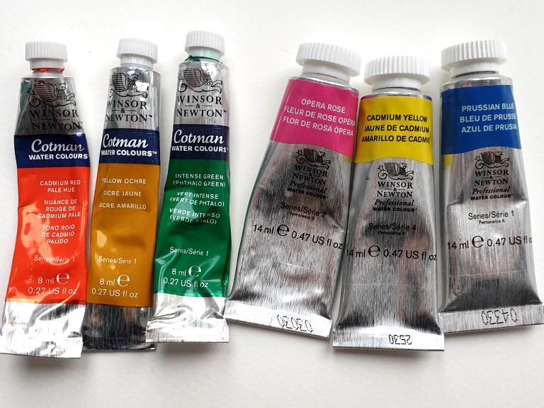 student cotman vs professional winsor and newton watercolour paint