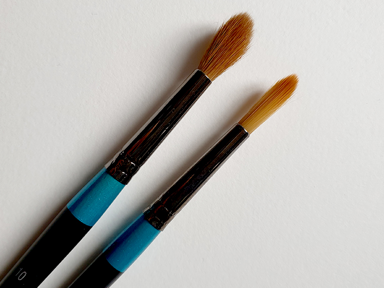 watercolour brushes synthetic natural hair