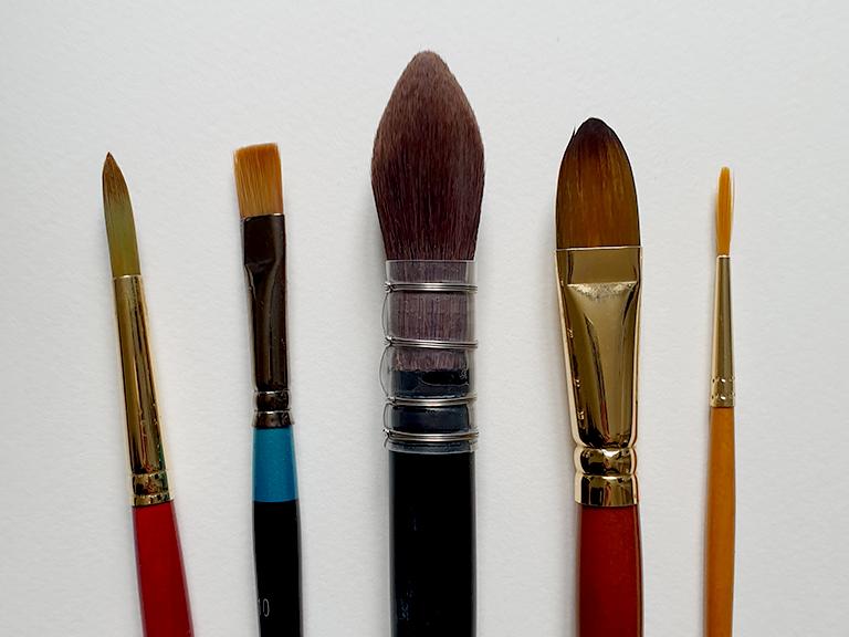 watercolor brush types