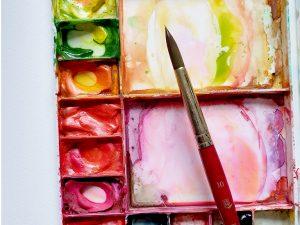 watercolour paint guide palette