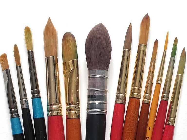 watercolour brush types