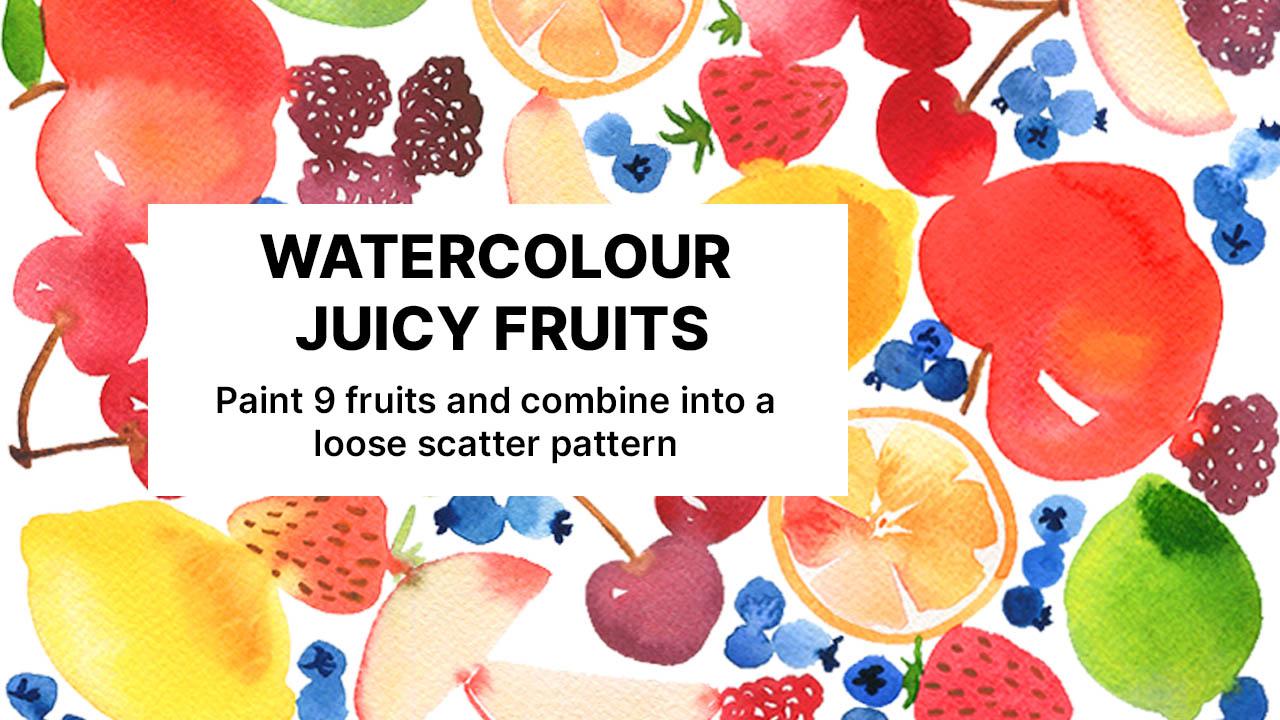 emily wassell watercolor fruits class Skillshare