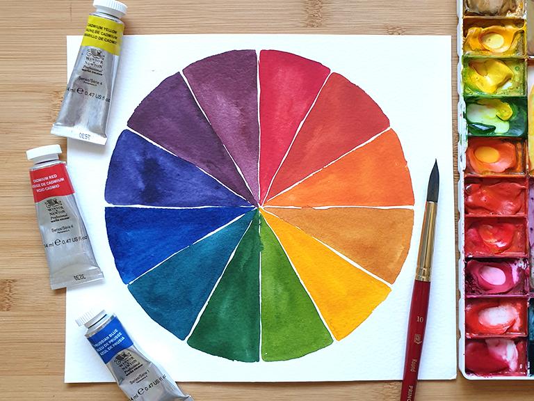 watercolour mixing paint