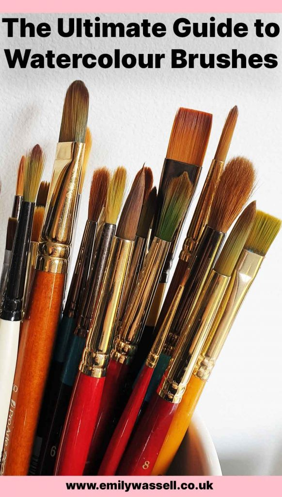 guide to watercolour brushes