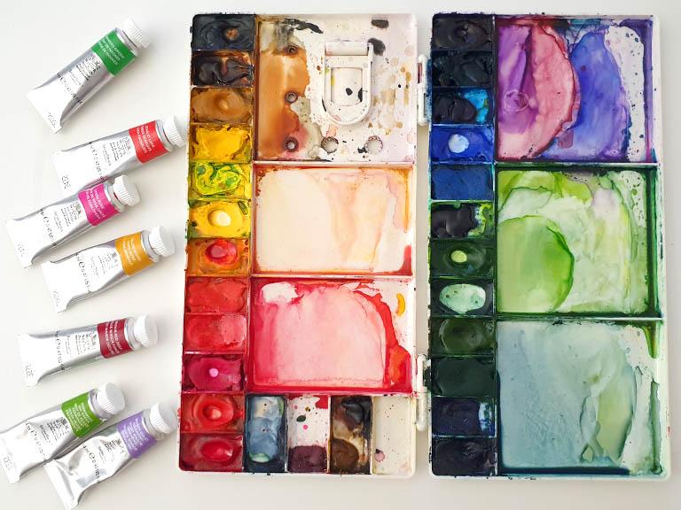 plastic folding palettes for watercolor