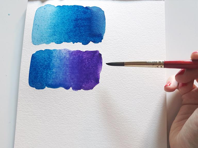 two colour watercolour gradients