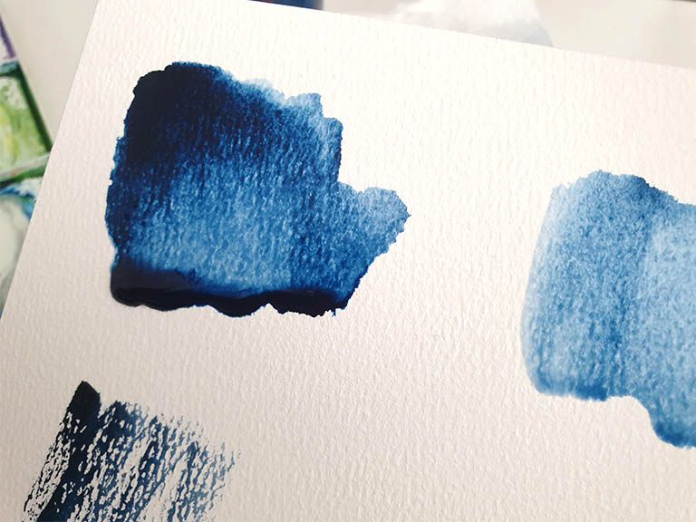 puddles in watercolour painting