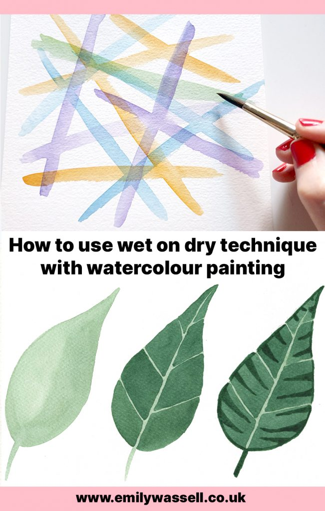 how to use watercolor wet on dry technique
