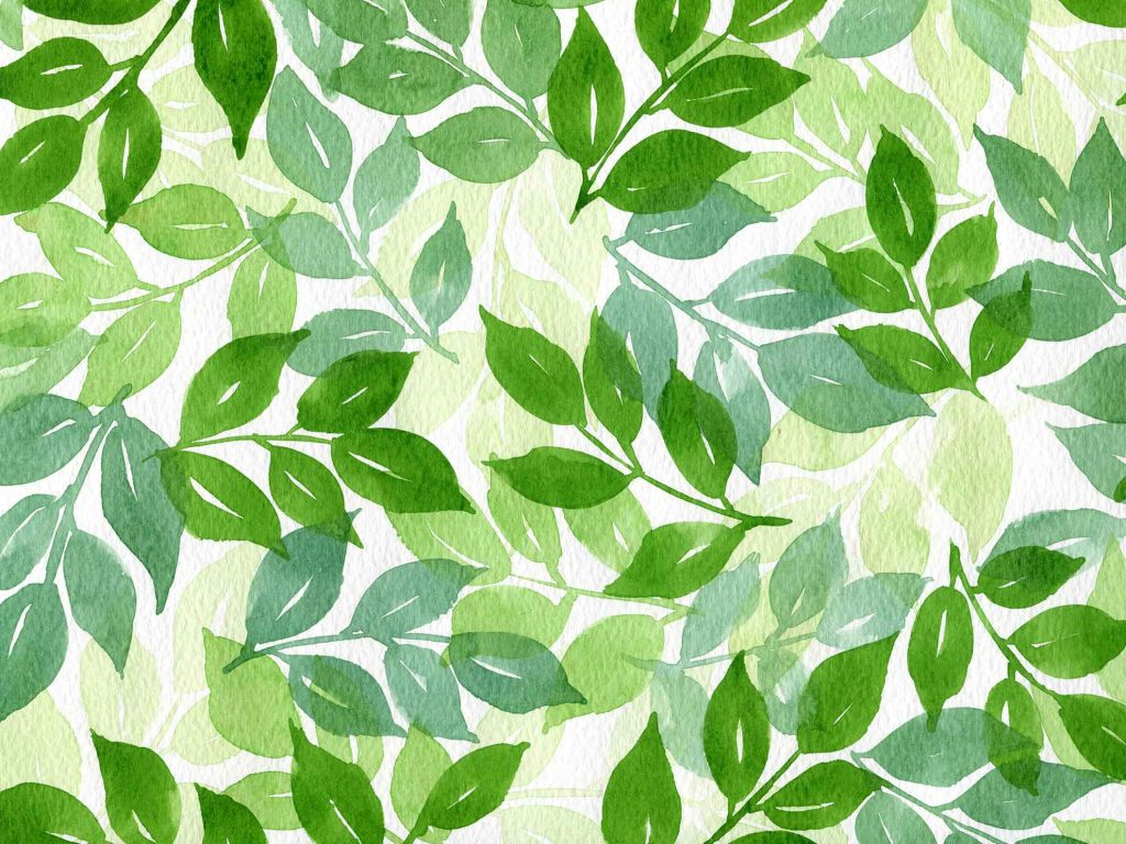 watercolor-wet-on-dry-layering-leaf-pattern