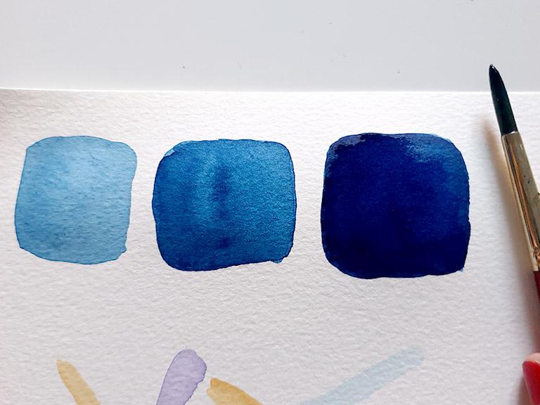 layering watercolour paint