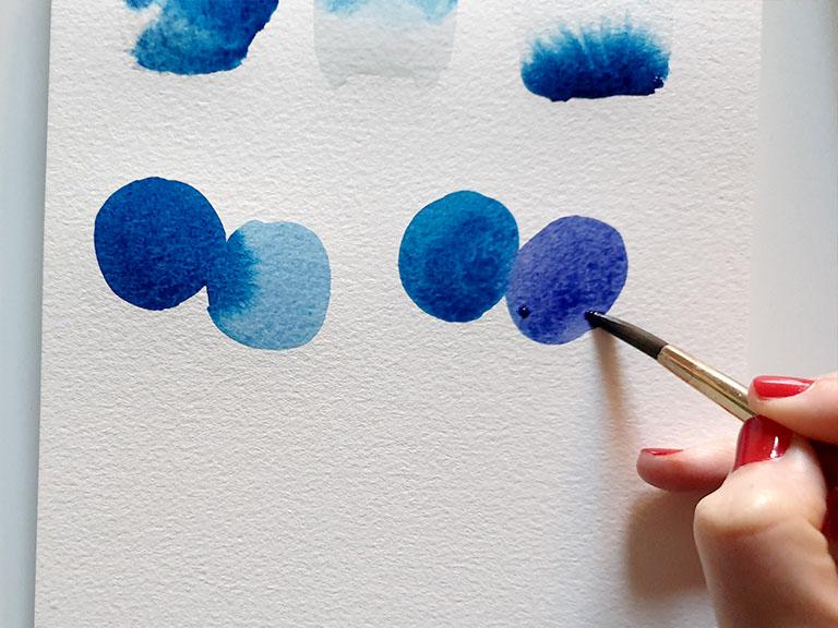 touch wet on wet watercolor technique