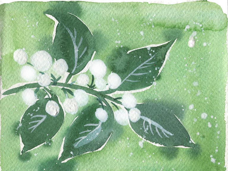 white gouache in watercolours